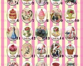 LOW DOME 40x30 or 25x18 Alice in Wonderland Vintage Eat Me Cupcake Cake Resin Cameo ALICE 6.1-20