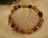 Mixed browns beads bracelet
