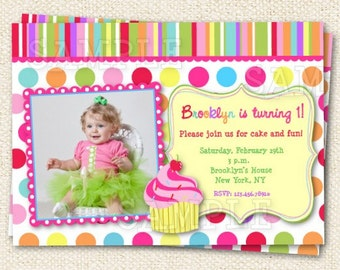 Cupcake Birthday Invitations