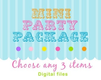 Mini Party Package Pack- Pick ANY 3 items