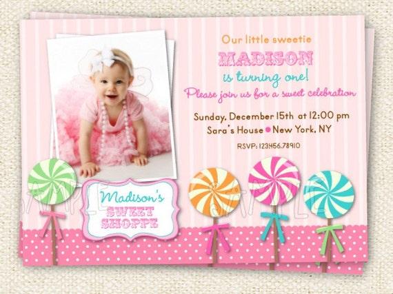 Sweet Shoppe Birthday Invitations