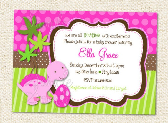 items similar to dinosaur baby shower invitations on etsy