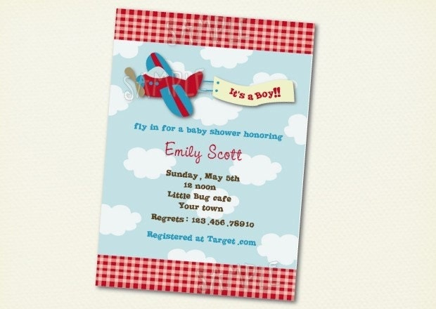 airplane baby shower invitations by lollipopprints on etsy, Baby shower