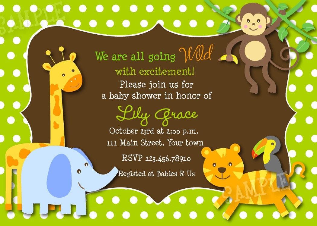 Safari Baby Shower Invites with nice invitation sample