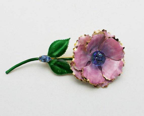 Vintage Original by Robert Enameled Floral Brooch