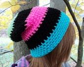 Crochet Slouchy Beanie, Crochet Hat, Crochet Beanie