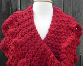Crochet PATTERN Ruby Red Infinity Circle Scarf Cowl Wrap Neckwarmer INSTANT pdf DOWNLOAD