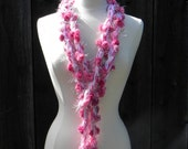 Breast Cancer Fundraiser XX long Skinny Scarf 100% of proceeds to Avon 39 mile walk in San Francisco July 2016