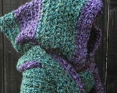 Easy Crochet Pattern, Hooded Scarf, Scoodie Hoodie, crochet hat pattern