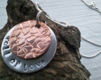 Hand Stamped Necklace..Full Of Love...OR Customize...Arrives in a pretty Organza Bag..