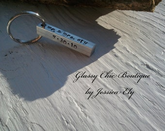 Personalized Key Chain..Father's Day.. Hand stamped on all FOUR sides..so many options..great for men and women alike