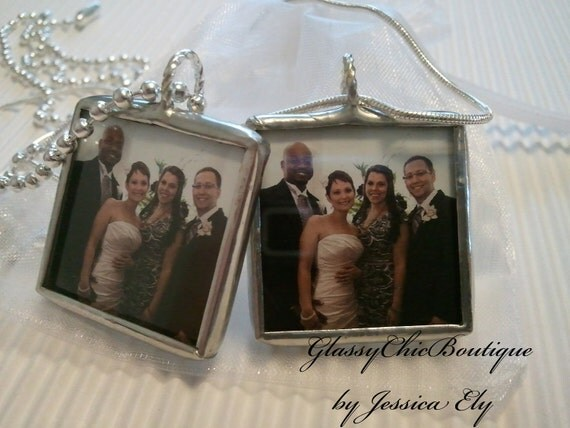Custom Photo Necklace..TWO sided..Great keepsake..keep loved ones close always