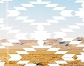 Ikat Desert Poster
