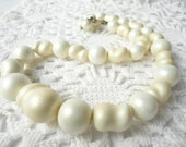 Vintage Pearl Necklace Chunky Faux Choker