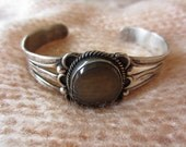 BLACK FRIDAY SALE - Silver Bracelet with Brown Stone