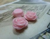 20pcs 12mm Pink Beautiful Resin chrysanthemum Rose Flower Cameo Cabochon Base Setting Pendants Charm Pendant c5432-22