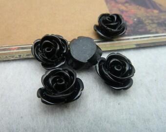 20pcs 12mm  Beautiful Resin chrysanthemum Rose Flower Cameo Cabochon Base Setting Pendants Charm Pendant c5432-7