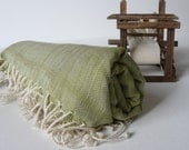 TurKish BaTh ToWel - BoHeMian PesHteMal - Green