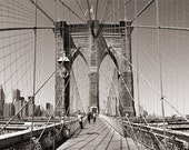 Brooklyn Bridge Ropes - Matted Print