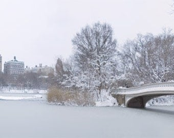 Wall art - Central Park - Photography - Gift -  Print - Poster -  Photograph - Photo - San Remo - Winter - Bridge