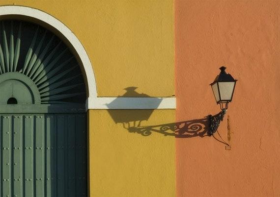 Old San Juan Wall Decor : Wall art door orange yellow gift old san juan print