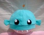 Hanklerfish (Anglerfish) Hat Teal-Blue