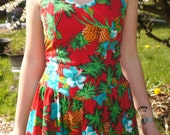 Reserved item...80's Hawaiian Pineapple Royal Creations dress