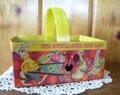 1950's Antique Mattel Toy Peter Cottontail Musical Easter Basket