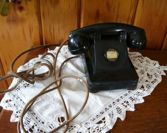 Antique Telephone Western Electric Art Deco Table Phone