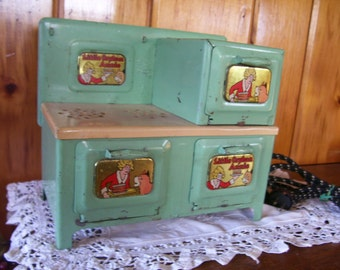 Marx Tin Stove Toy Little Orphan Annie Electrical 1930's Antique Works On SALE