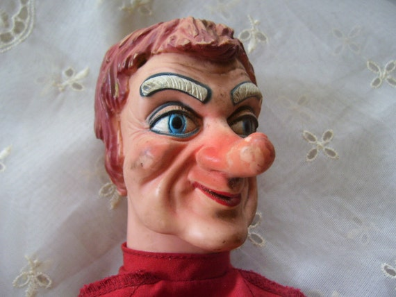 Sale Rare 1960's Antique Ideal Toy Puppet Doll Lady Elaine Mr Rogers Neighborhood