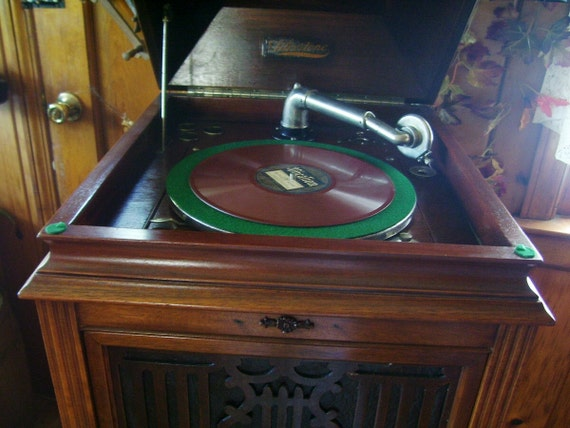 Victrola Phonograph Silvertone Antique Victorian Furniture Fully Restored Exquisite Musical Piece On SALE