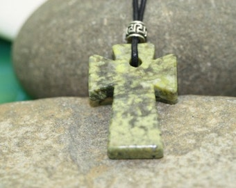 Connemara Marble Cross Pendant