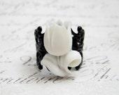 Harlequin Tulip Ring