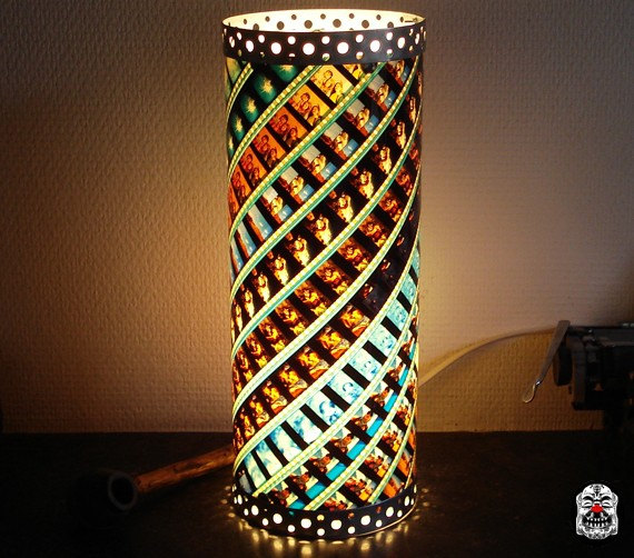Unique Handmade Lamp Made Of 35 Mm Movie Film 127 By