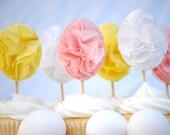 Egg Pom Cupcake Toppers