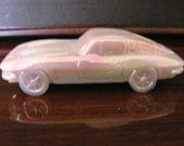VALENTINESALE Vintage 63 Pink Carnival Corvette Glass by Boyd