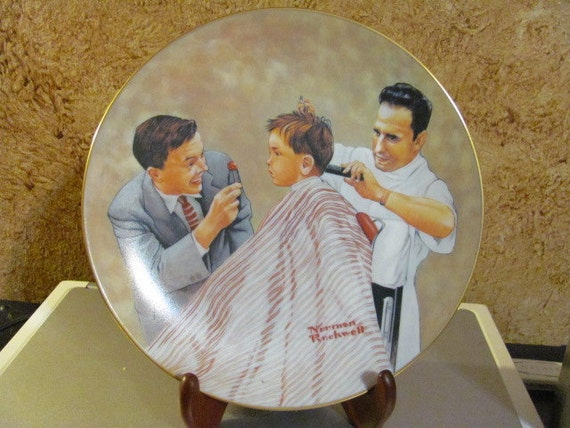 norman rockwell haircut norman rockwell plate the american family series 3783