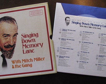 Mitch Miller Singing Down Memory Lane Six Record Boxed Set