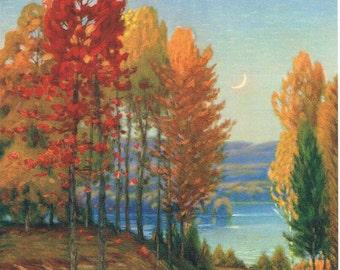 Autumnal Beauty Gustave Wiegand Calendar Art Print