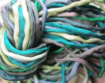 Greens Bundle of 10 Hand-Dyed Silk Cord