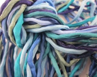 Blues Bundle of 10 Hand-Dyed Silk Cord