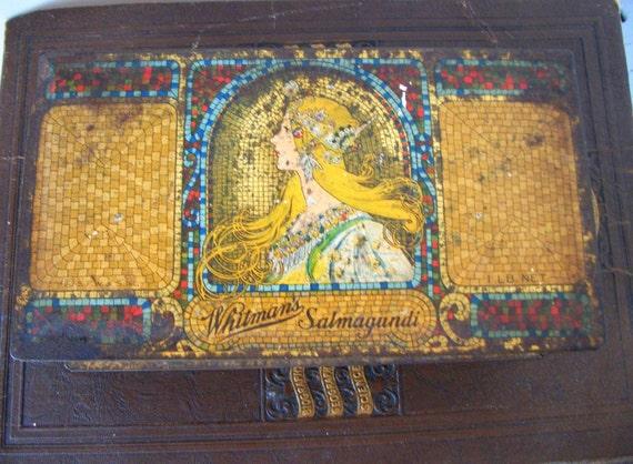 Antique Art Nouveau Whitmans Candy Tin