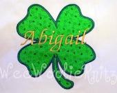 St Patrick's Day T Shirt Bib Bodysuit Personalized Appliqued Shamrock Boys Girls Baby Toddler