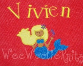 Girls Personalized Beach Towel Mermaid  Applique Bath Boutique Style You Design