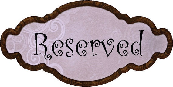Reserved listing for Kaitlyn