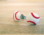Sporty Girl Earrings... Baseballs