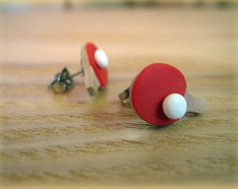 Sporty Girl Earrings... Ping Pong Paddles