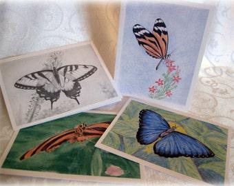 """Original Art Stationery... Butterflies Variety Note Cards """"Butterfly Garden"""""""