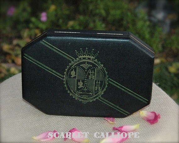 Vintage 1950s Shields Hard Leather Wrapped Mens Jewelry Box Valet Case